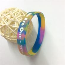 High Quality Promotion Gift Debossed Custom Rubber Bracelets