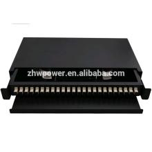 Fiber optic pull push type patch panel , 24 port rack mounted , draw type optical fiber patch panel