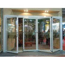 Aluminum Glass Balcony Bi-Folding Door with Thermal Break Profile