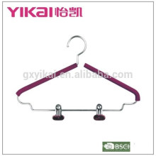Simple EVA foam coated padded metal shirt hangers with two clips