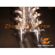 Twin Conical Screws for Roller-Head Extruder