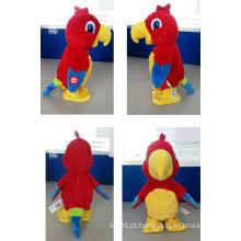 Brinquedo movido a pilhas elétrica do luxuoso do papagaio