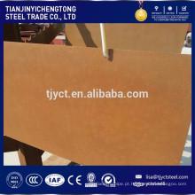 Corten placa de aço corten A / B Q295NH placa de resistência às intempéries