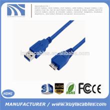 Neuer USB 3.0 Mann zum Mikro B Kabel 1.8m für Festplattenlaufwerk