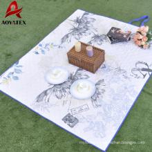 Pinsonic portable wholesale tartan foldable waterproof picnic rug
