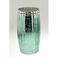 New Design Electroplated and Painted Glass Candle Holder