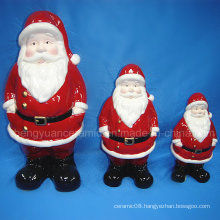 Ceramic Christmas Decoration, Santa Claus Figurine (Home Decoration)