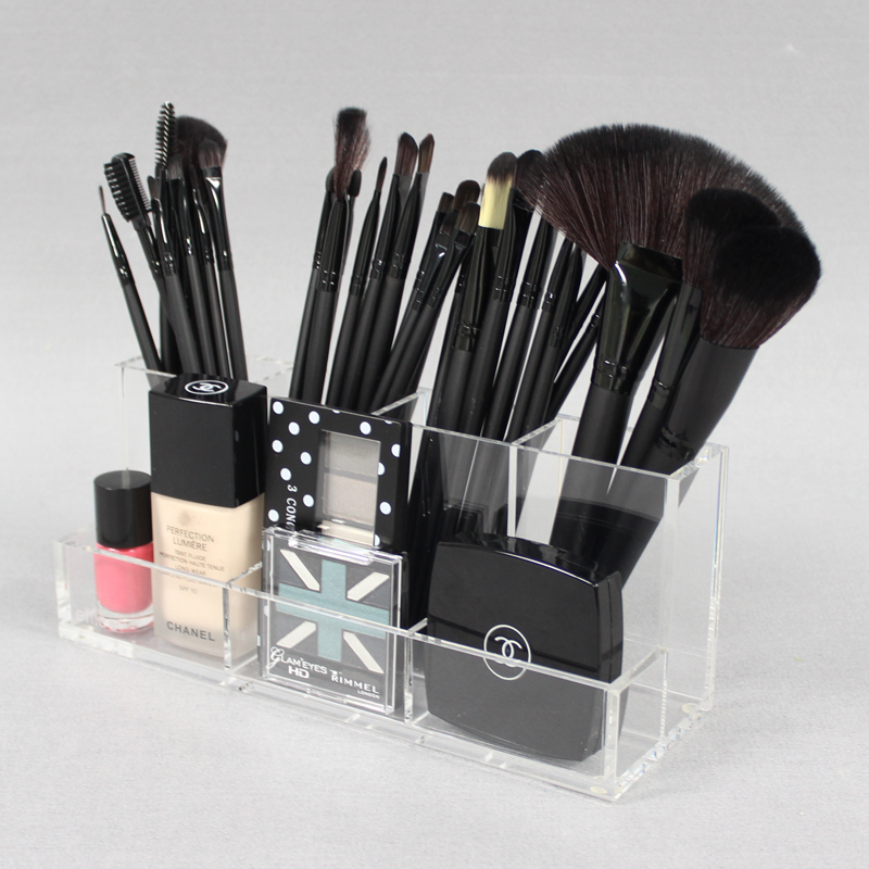 Clear Acrylic Makeup Bursh Storage Holder