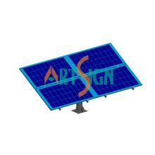 4 Platten Solar einzelne Pole Freilandanlage