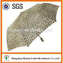 3 Auto dobradura abrir e fechar o logotipo guarda-chuva resistente ao vento