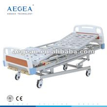 AG-BMS001 5-Function manual hospital medicare al-alloy handrails homecare bed
