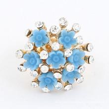 Bague de fiançailles en diamant turquoise à bas prix en gros