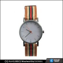 Hot sales watch pulseira de nylon relógio de aço inoxidável volta relógio de náilon de nylon
