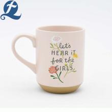 Tasse en céramique de tasse de porcelaine de café imprimée par promotion promotionnelle d'usine