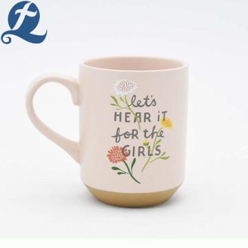 Printed coffee porcelain cup ceramic mug