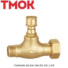 válvula de cierre de latón con rosca externa doble especial diseñada