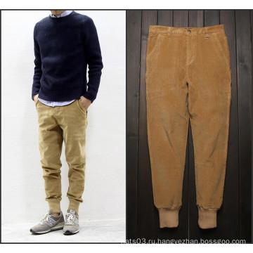 Мужские вельветовые брюки в стиле casual в теплых штанах
