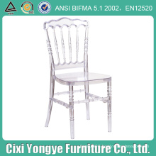 Plastic Clear Napoleon Chair for Outdoor Wedding Use