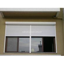 Amercian Style White Powder Coat Aluminium Roller Shutter Windows