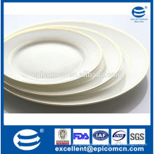 chinese factory wholesale gold finished ceramic plates new bone china dessert plates