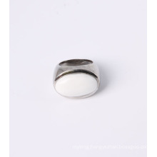 Fashion Jewelry Men Ring with Big White Nature Stone