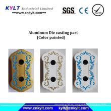 Piezas de fundición de aluminio pintado de varios colores