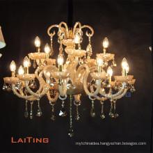 Classic lighting pendant candle abajur crystal light