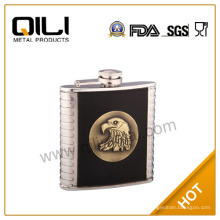304 18/8 conjuntos de regalo de reloj de calidad de alta 6oz de FDA y de LFGB para boda