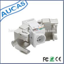 Utp cat 5e rj45 keystone jack / amp modulare jack / rj45 punchdown modular / modularer steckverbinder