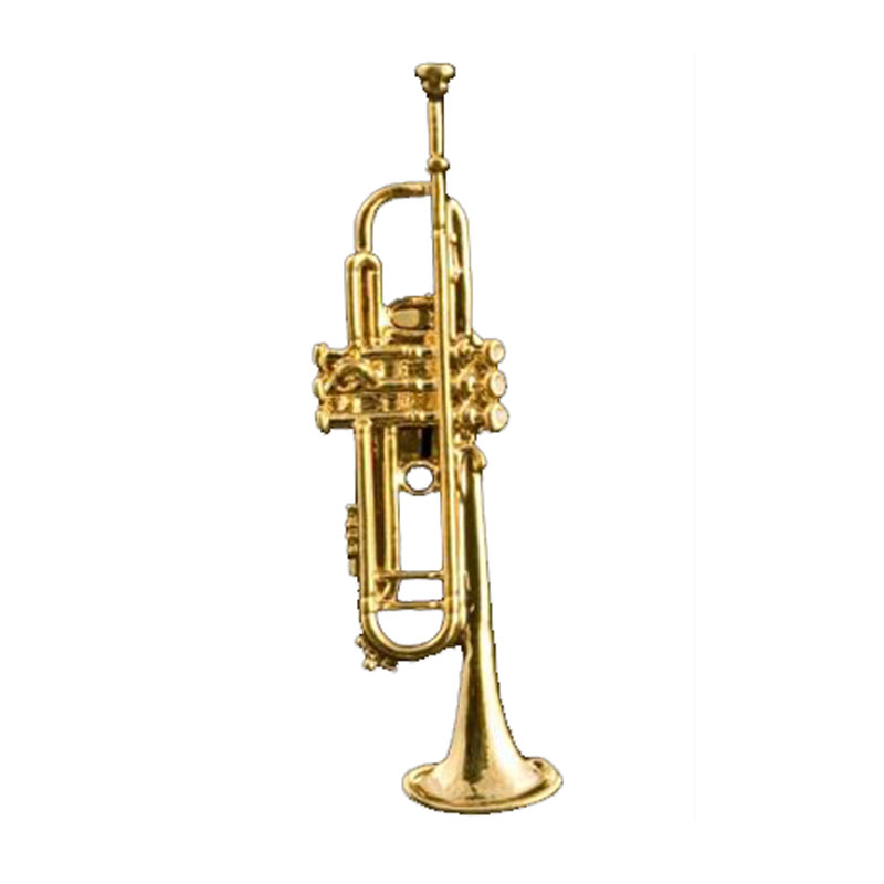Trumpet Pin Gold Plated