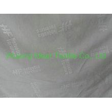tela 100% poliester lazo con logotipo en relieve
