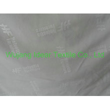 100% polyester loop fabric with embossed logo