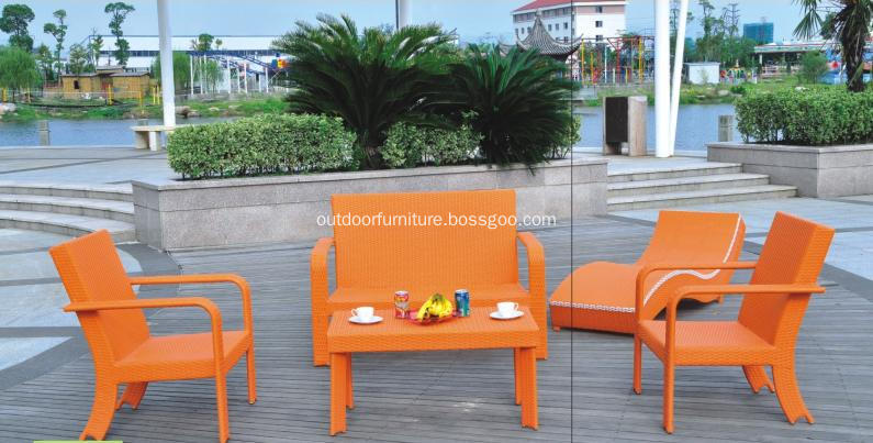 DLR1114 Modern Colorful Outdoor Furniture Armchairs Sofas