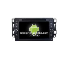 Cuatro núcleos! DVD de coche con espejo enlace / DVR / TPMS / OBD2 para pantalla táctil de 7 pulgadas de cuatro núcleos 4.4 sistema Android Chevrolet Captiva