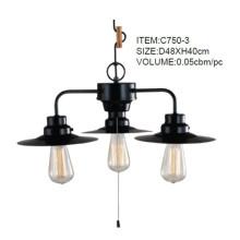 Black Metal Creative Pendant Lights with 3 Lights (C750-3)