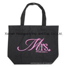 Werbeartikel Custom bedruckte schwarze Einkaufstasche Calico Baumwolltasche