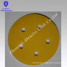 Yellow Sanding Disc With Coated Imported Paper round hole 5