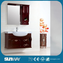 2014 Glossy Free Standing Solid Wood Bathroom Cabinet