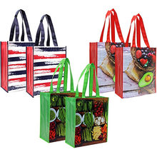 Wholesale reusable laminated non woven tote promotional grocery bag