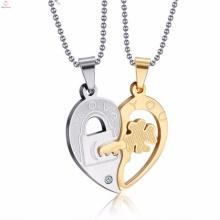 pendentif en acier inoxydable à la mode en or argent coeur pendentifs bijoux