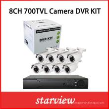 "8CH 700tvl 1/3 ""Sony 960h CCD al aire libre Cámaras DVR Kits"