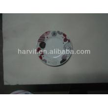Couleur variable et taille Décalque Fleurs Plaques rondes en porcelaine blanche