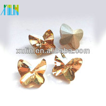 crystal glass stone beads butterfly shape glass crystal 4748