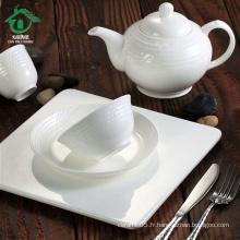 Set de vaisselle en céramique en porcelaine fine 5pcs