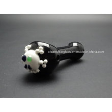 Factory Wholesale Skull Head Glass Pipe Hand Pipe Smoking Pipe 12cm