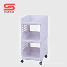 Shantou organizador de banheiro de prateleira de armazenamento de plástico prático com roda