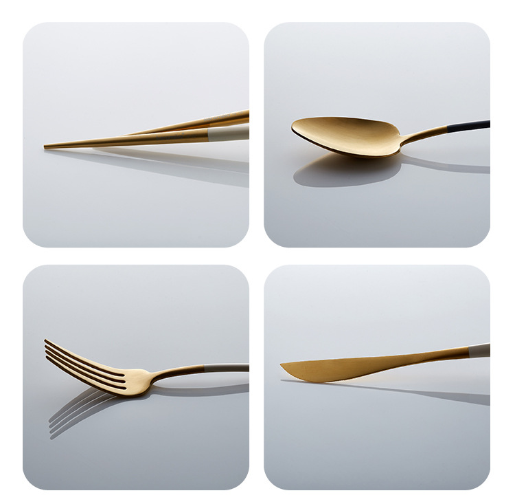 Gold Plated Flatware Set