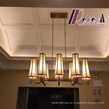 Lámpara colgante moderna del vestíbulo de cobre amarillo antiguo para el proyecto del hotel