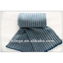 tricot écharpe en cachemire homme bleu