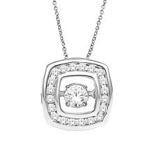 925 Sterling Silver Dancing Diamond Jewelry Silver Pendants